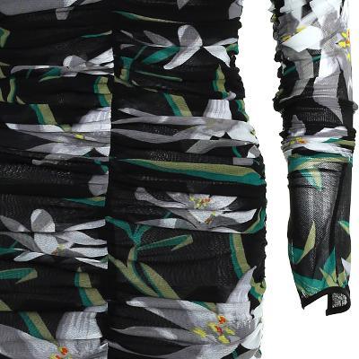 front shirring detail flower dress